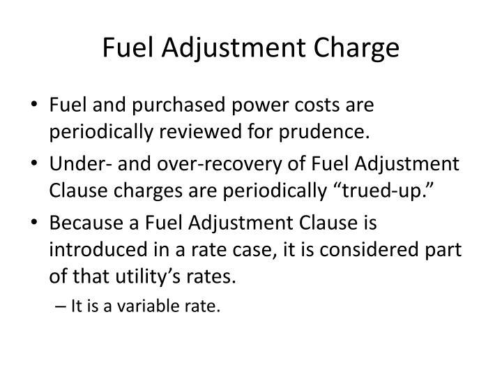 Fuel Adjustment Charge