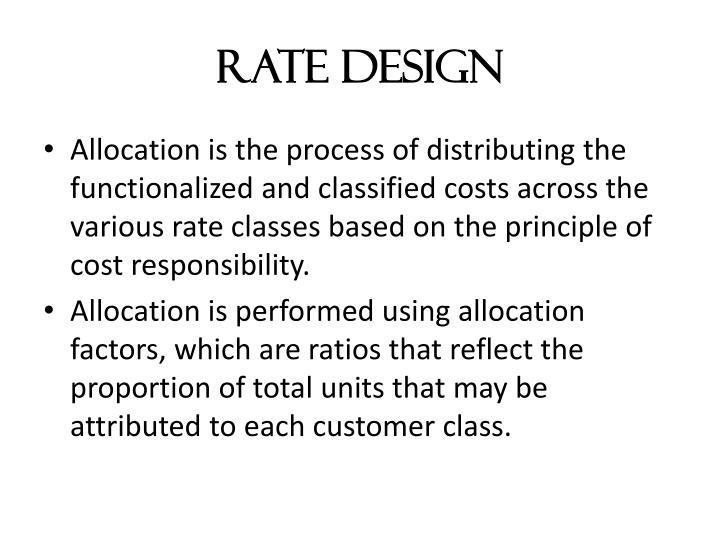 Rate Design
