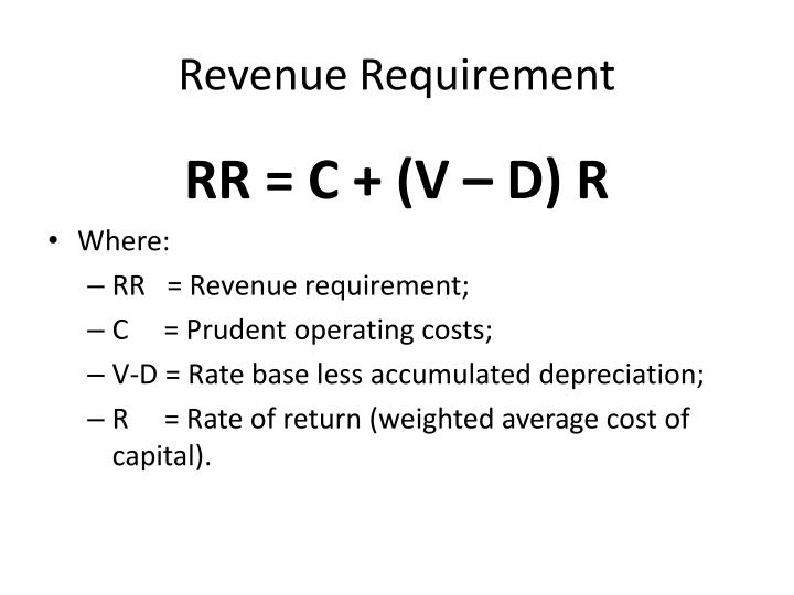 Revenue Requirement
