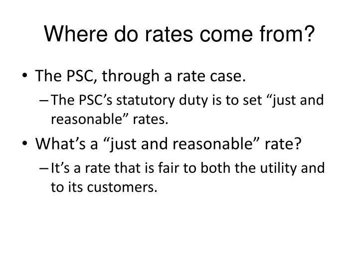 Where do rates come from?