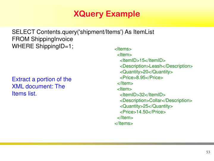 XQuery Example