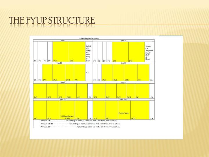 THE FYUP STRUCTURE