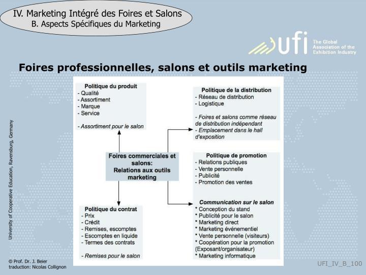 Foires professionnelles, salons et outils marketing