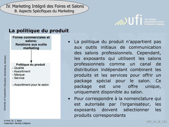 La politique du produit