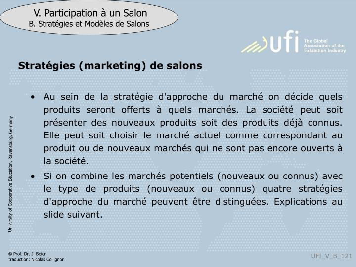 Stratégies (marketing) de salons