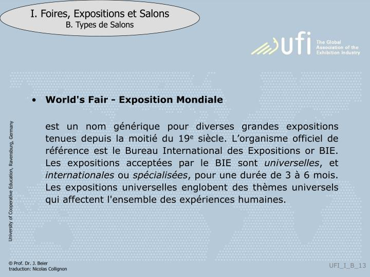 World's Fair - Exposition Mondiale