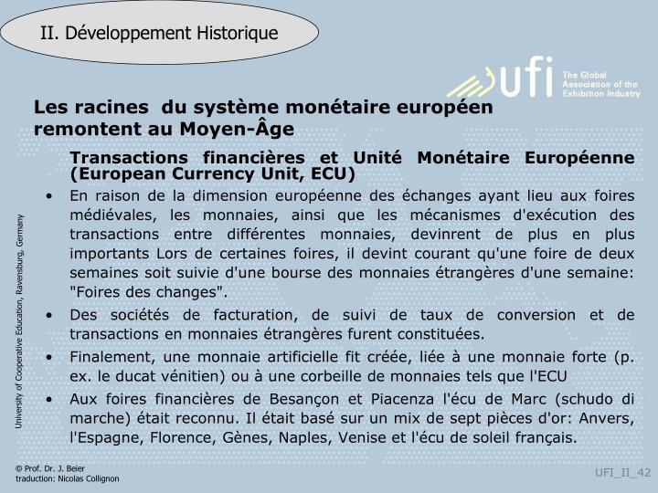 Les racines  du système monétaire européen