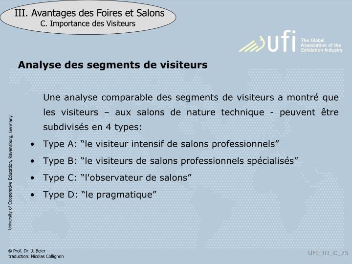 Analyse des segments de visiteurs