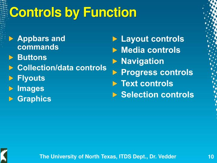 Controls by Function