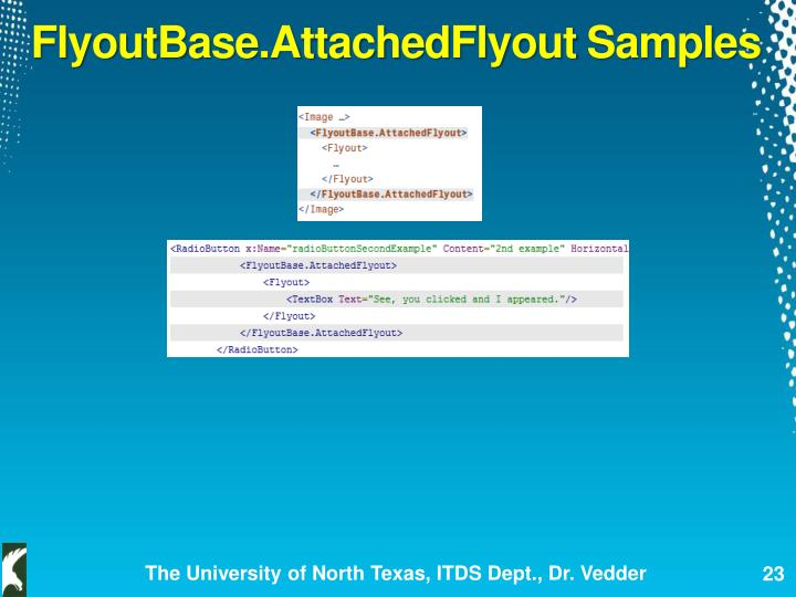 FlyoutBase.AttachedFlyout
