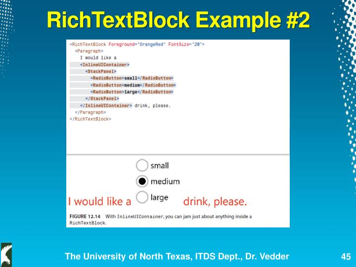 RichTextBlock