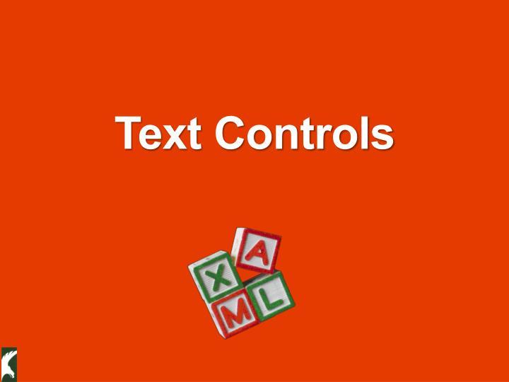 Text Controls