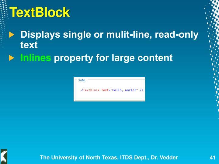 TextBlock