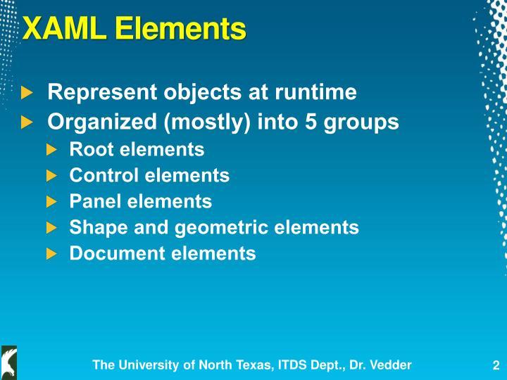 XAML Elements