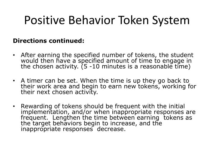 Positive Behavior Token System