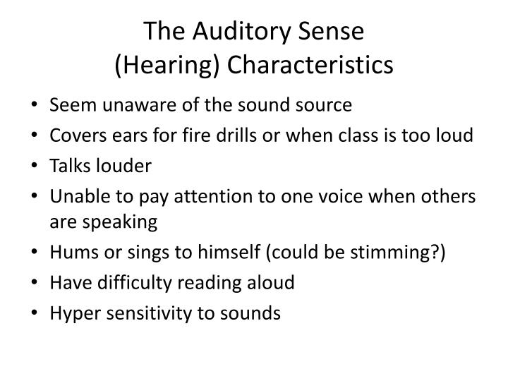 The Auditory Sense