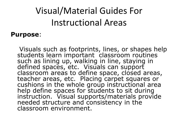 Visual/Material Guides For