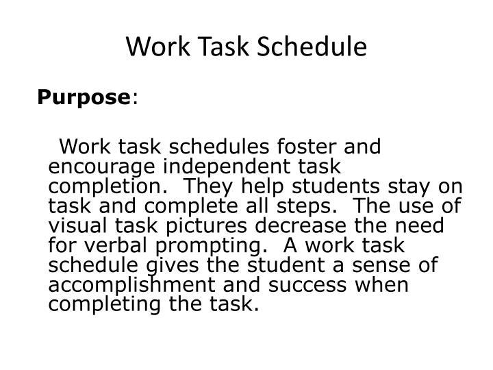 Work Task Schedule