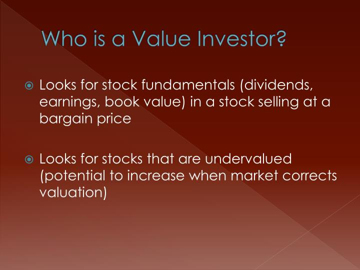 Who is a Value Investor?