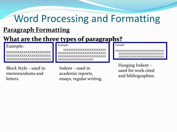 academic writing paragraph in dent