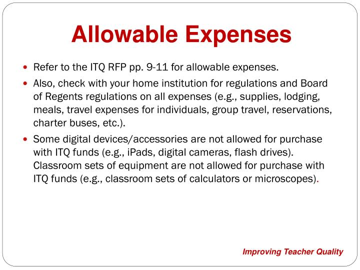 Allowable Expenses