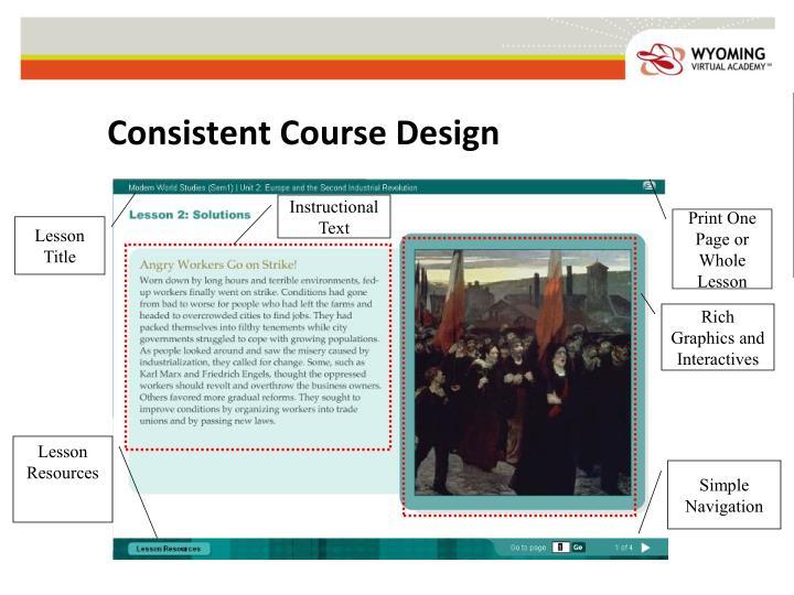Consistent Course Design