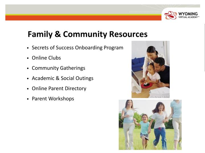 Family & Community Resources