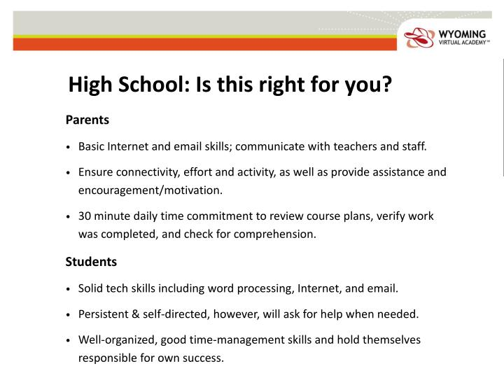 High School: Is this right for you?