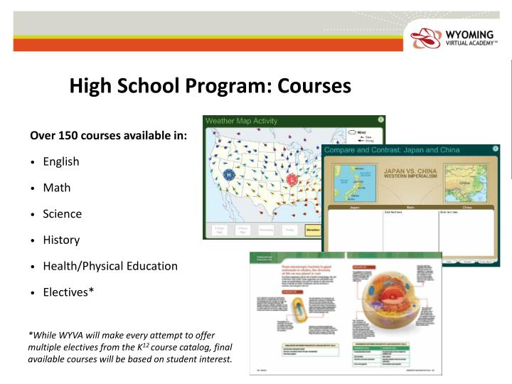 High School Program: Courses