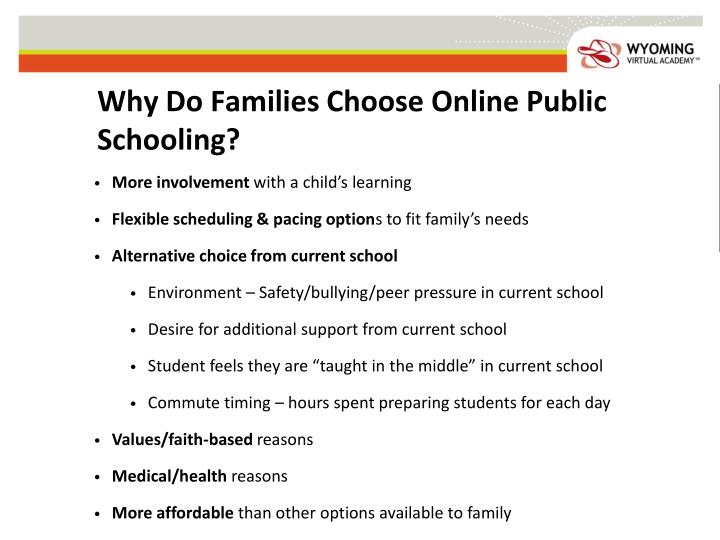 Why Do Families Choose Online Public Schooling?
