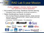 rad lab 5 year mission
