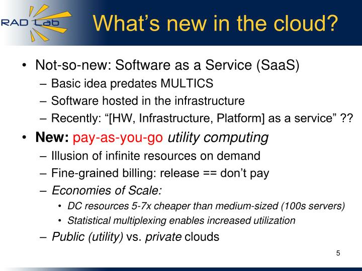 What's new in the cloud?