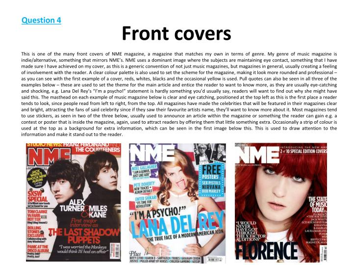 Front covers
