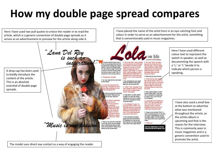 How my double page spread compares