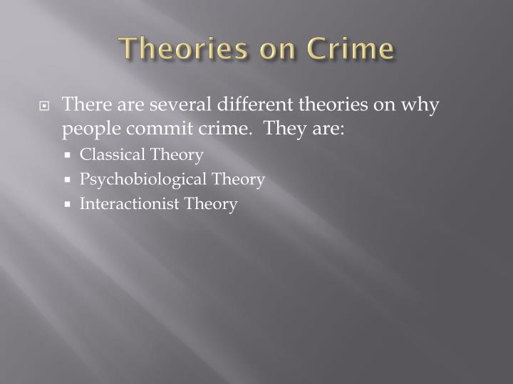 Theories on Crime
