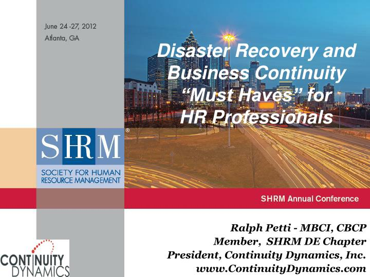 Disaster recovery and business continuity must haves for hr professionals