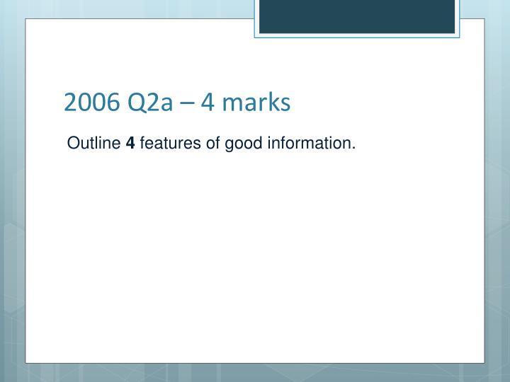 2006 Q2a – 4 marks