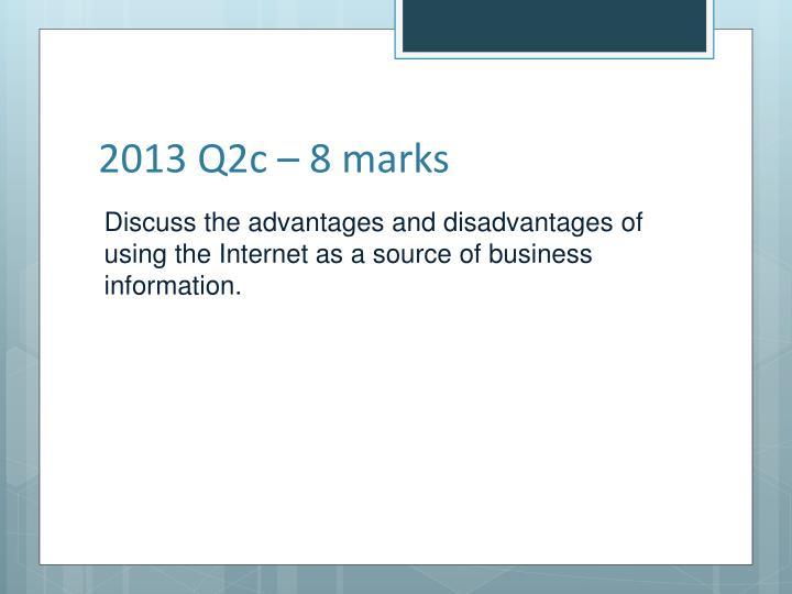 2013 Q2c – 8 marks