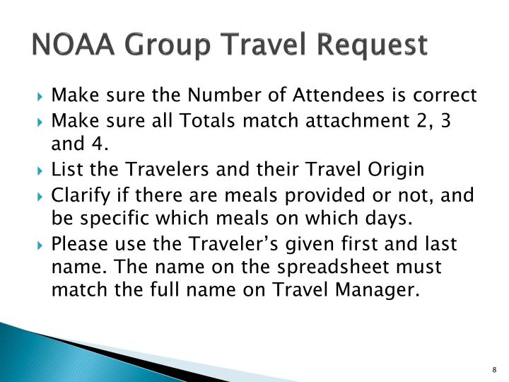 NOAA Group Travel Request