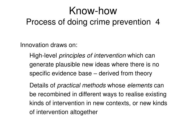 an analysis of the topic of the response to a crime and the crime prevention methods Sound evaluations of methods and existing office of justice programs (ojp) grant programs are necessary to ensure the wise expenditure of taxpayer dollars as the research, development, and evaluation agency of the department of justice, the national institute of justice is dedicated to improving knowledge and understanding of crime and justice.