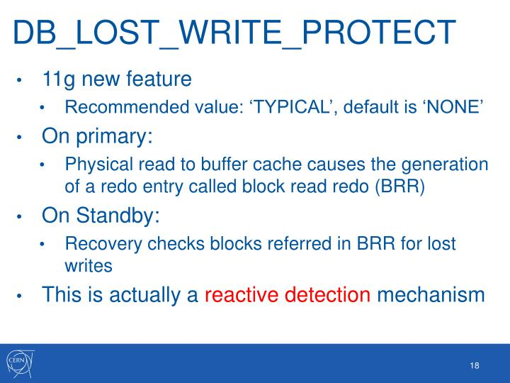 DB_LOST_WRITE_PROTECT