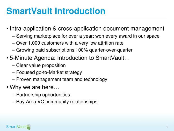 SmartVault Introduction