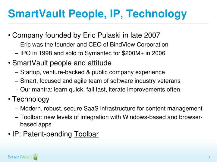 SmartVault People, IP, Technology