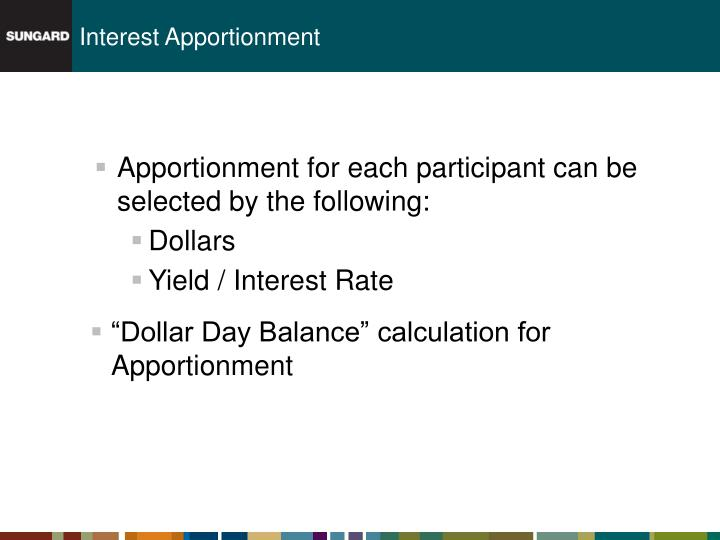 Interest Apportionment