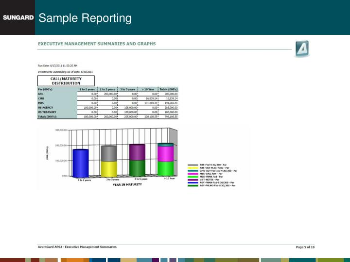 Sample Reporting