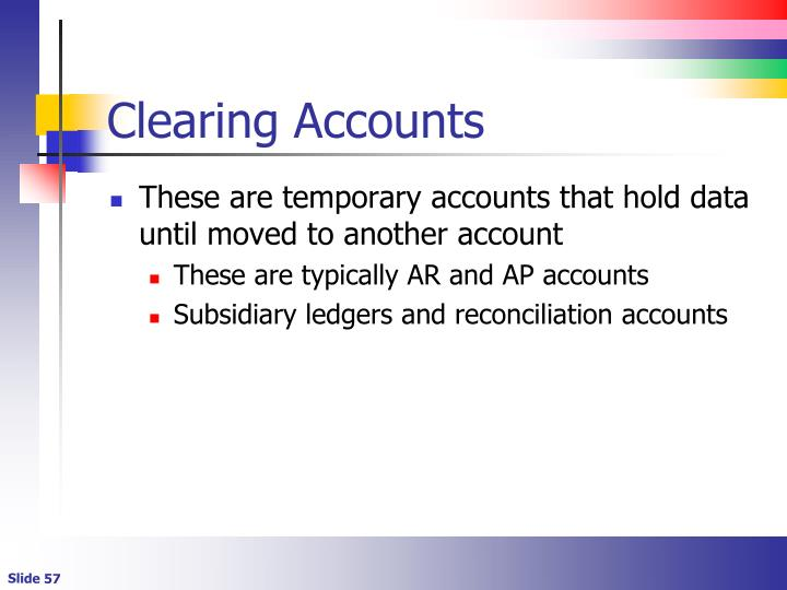 Clearing Accounts