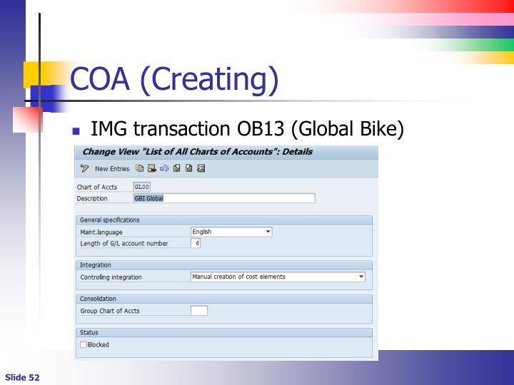 COA (Creating)