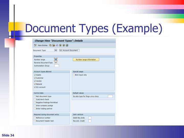 Document Types (Example)