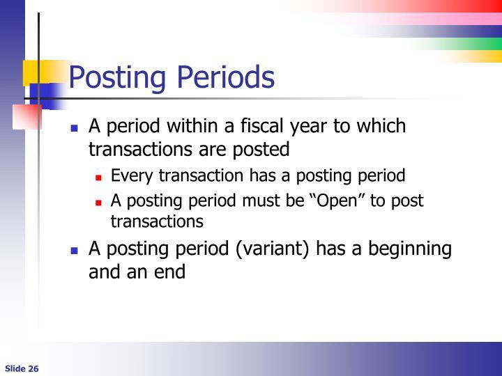 Posting Periods