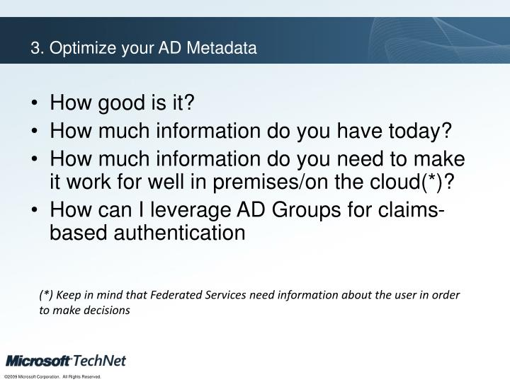 3. Optimize your AD Metadata
